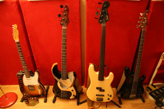 Studion instrumentit - kitarat